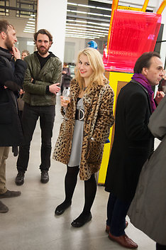 DENI KIRKOVA, Editor of Wallpaper: Tony Chambers and architect Annabelle Selldorf host drinks to celebrate the collaboration between the architect and three of Savile Row's finest: Hardy Amies, Spencer hart and Richard James. Hauser and Wirth Gallery. ( Current show Isa Genzken. ) savile Row. London. 9 January 2012.