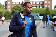 AFC Wimbledon midfielder Liam Trotter (14) arriving during the EFL Sky Bet League 1 match between AFC Wimbledon and Scunthorpe United at the Cherry Red Records Stadium, Kingston, England on 15 September 2018.