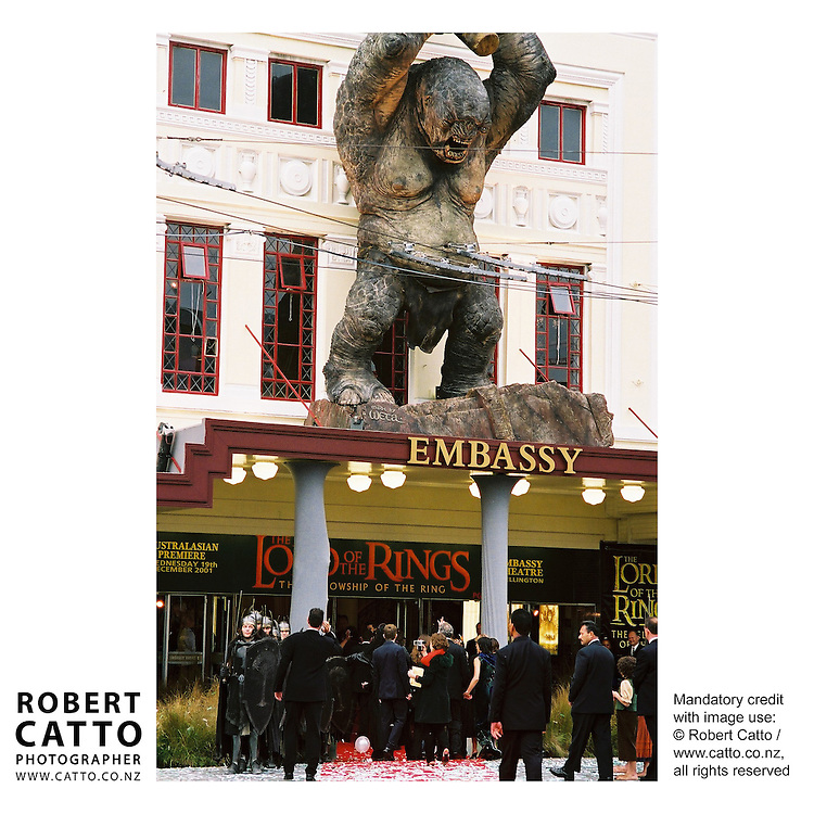 Lord Of The Rings: Fellowship Of The Ring Premiere at the Embassy Theatre, Wellington, New Zealand.<br />