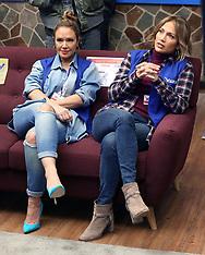 Jennifer Lopez , Leah Remini Filming Second Act - 24 Oct 2017