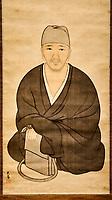 Japon, île de Honshu, région de Shizuoka, Atami,  MOA, le Musée d'art moderne, portrait du poete Basho, 17e siecle // Japan, Honshu, Shizuoka, Atami, MOA, the Museum of Art, portrait of poet Basho, 17 century