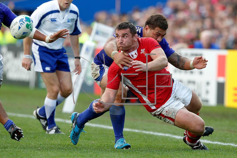 Hamilton 18/09/2011 Waikato Stadium<br /> Rugby World Cup : Wales vs Samoa