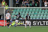 Fotball , 29. Juli 2012, Tippeligaen Eliteserien , Sogndal - Odd Grenland Ørjan Hopen, Nils Kenneth Udjus Sogndal. Torgeir Børven, Herolind Shala Odd Grenland.<br /> <br /> Foto: Christian Blom , Digitalsport