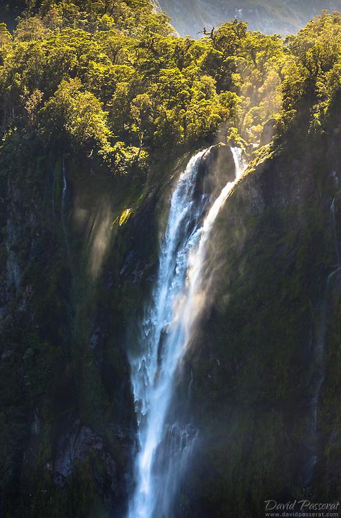 Stirling waterfall detail in milfordsound.