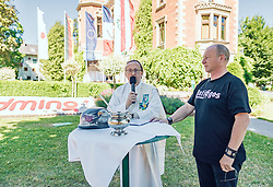 28.06.2019, Schladming, AUT, Rock the Roof 2019, im Bild Motorrad Segnung // motorbike blessing during the Rock the Roof Biker Meeting in Schladming, Austria on 2019/06/28. EXPA Pictures © 2019, PhotoCredit: EXPA/ JFK