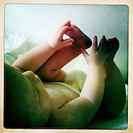 Quinn discovers his feet. No matter how much support I had as a new mom, I often felt isolated.. just me and my baby. This moment was one I wished Craig could have seen in person. I sent this to him when he was out of the country for work.