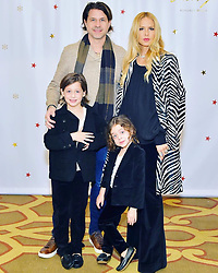 """Rachel Zoe releases a photo on Twitter with the following caption: """"""""Feeling grateful for my family today and everyday on #mcm #myboys #heartfull ❤️💚🙏🏻 xoRZ"""""""". Photo Credit: Twitter *** No USA Distribution *** For Editorial Use Only *** Not to be Published in Books or Photo Books ***  Please note: Fees charged by the agency are for the agency's services only, and do not, nor are they intended to, convey to the user any ownership of Copyright or License in the material. The agency does not claim any ownership including but not limited to Copyright or License in the attached material. By publishing this material you expressly agree to indemnify and to hold the agency and its directors, shareholders and employees harmless from any loss, claims, damages, demands, expenses (including legal fees), or any causes of action or allegation against the agency arising out of or connected in any way with publication of the material."""