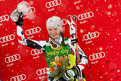 SCHILDBernadette of Austria during flover ceremony of 50th Golden Fox Audi Alpine FIS Ski World Cup Ladies Slalom, on February 2, 2014 in Podkoren, Kranjska Gora, Slovenia. (Photo By Urban Urbanc / Sportida.com)