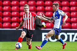 Max Power of Sunderland takes on Sam Nicholson of Bristol Rovers - Mandatory by-line: Robbie Stephenson/JMP - 12/09/2020 - FOOTBALL - Stadium of Light - Sunderland, England - Sunderland v Bristol Rovers - Sky Bet League One