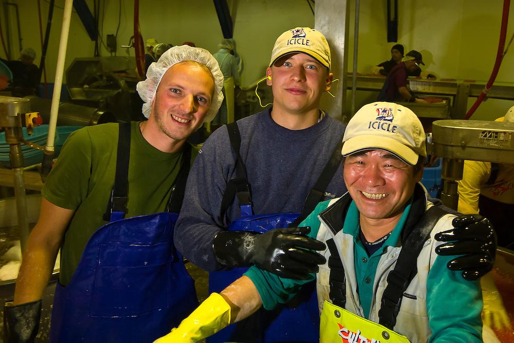 Processing fish roe at Petersburg Fisheries (Icicle Seafoods), Petersburg, Mitkof Island, Southeast Alaska