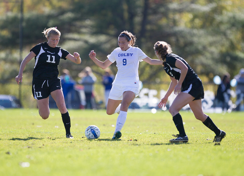 Cami Notaro, of Colby College, during a NCAA Division III women's soccer game on October 25, 2014 in Waterville, ME. (Dustin Satloff/Colby College Athletics)