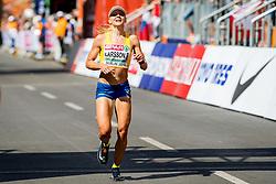 August 12, 2018 - Berlin, GERMANY - 180812 Mikaela Larsson of Sweden competes in the women's marathon final during the European Athletics Championships on August 12, 2018 in Berlin..Photo: Vegard Wivestad GrÂ¿tt / BILDBYRN / kod VG / 170206 (Credit Image: © Vegard Wivestad Gr¯Tt/Bildbyran via ZUMA Press)