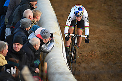 December 26, 2018 - Heusden-Zolder, BELGIUM - Belgian Wout Van Aert pictured in action during the men Elite race of the seventh stage (out of nine) in the World Cup cyclocross, Wednesday 26 December 2018 in Heusden-Zolder, Belgium. BELGA PHOTO DAVID STOCKMAN (Credit Image: © David Stockman/Belga via ZUMA Press)