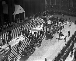 The Royal Procession on the point of leaving St Paul's Cathedral after the Service of Thanksgiving.