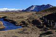 The view along Rangárvallavegur, a road heading inland near Hotel Ranga in Southern Iceland