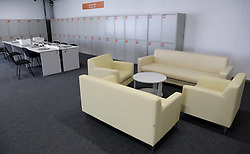 June 14, 2018 - Samara, Russia - June 14, 2018. - Russia, Samara. - Samara Arena, a venue for the 2018 FIFA World Cup matches. In picture: Internet cafe at the Samara Arena Media Centre. (Credit Image: © Russian Look via ZUMA Wire)
