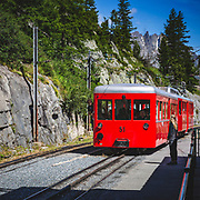Taking the Montenvers cog-railway (built in 1908) to the Mer de Glace above Chamonix. The second longest glacier in the Alps it is both fascinating to visit and tragic when you see how far it has receded with the warmer climate. As you decend into the classic U-shaped glacial valley you pass year markers of where the ice reached ....the last 50 years are staggering.