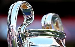 LISBON, PORTUGAL - Sunday, August 23, 2020: The European Cup trophy seen before the UEFA Champions League Final between FC Bayern Munich and Paris Saint-Germain at the Estadio do Sport Lisboa e Benfica. (Credit: ©UEFA)