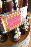 wine shop hand painted bottles le cellier des princes chateauneuf du pape rhone france
