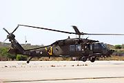 Israeli Air force helicopter, Sikorsky UH-60 Black Hawk in flight