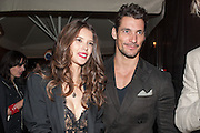 SARAH ANN MACKLIN; DAVID GANDY, Dinner to celebrate the opening of the first Berluti lifestyle store hosted by Antoine Arnault and Marigay Mckee. Harrods. London. 5 September 2012.