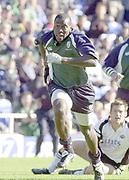 Reading, Berkshire, 5th October 2003, Zurich Premiership Rugby  London Irish v Leeds,  Madejski Stadium, <br /> [Mandatory Credit; Peter Spurrier/Intersport Images]2003/04 Zurich Premiership Rugby: London Irish v Leeds<br /> Paul Sackey