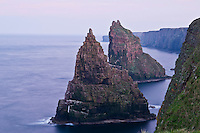 Duncansby sea stacks and steep cliffs at Duncansby head, Caithness, Scotland