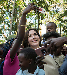 Crown Princess Mary and minister for development Ulla Toernaes visiting Kenya with focus on women's rights. Visit at YMCA, Shauri Moyo, Nairobi, Kenya. November 28, 2018. 28 Nov 2018 Pictured: Crown Princess Mary. Photo credit: Hanne Juul/Aller/MEGA TheMegaAgency.com +1 888 505 6342
