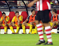 Photo: Chris Ratcliffe.<br /> PSV Eindhoven v Liverpool. UEFA Champions League, Group C. 12/09/2006.<br /> Steven Gerrard of Liverpool. starts on the bench