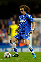 Chelsea Defender David Luiz (BRA) in action during the second half of the match - Photo mandatory by-line: Rogan Thomson/JMP - Tel: 07966 386802 - 18/09/2013 - SPORT - FOOTBALL - Stamford Bridge, London - Chelsea v FC Basel - UEFA Champions League Group E