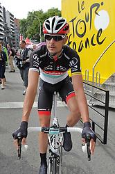 01.07.2012, Luettich, BEL, Tour de France, 1. Etappe Luettich-Seraing, im Bild Andreas KLOEDEN (GER - Radioshack-Nissan Trek) auf dem Weg zum Start // during the Tour de France, Stage 1, Liege-Seraing, Belgium on 2012/07/01. EXPA Pictures © 2012, PhotoCredit: EXPA/ Eibner/ Ben Majerus..***** ATTENTION - OUT OF GER *****
