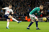 Tottenham Hotspur defender Kieran Trippier (2) has a shot on goal during the Premier League match between Tottenham Hotspur and West Bromwich Albion at Wembley Stadium, London, England on 25 November 2017. Photo by Andy Walter.