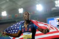ATHLETICS - IAAF WORLD CHAMPIONSHIPS 2011 - DAEGU (KOR) - DAY 4 - 30/08/2011 - PHOTO : STEPHANE KEMPINAIRE / KMSP / DPPI - <br /> 400 M - MEN - FINALE - SECOND PLACE - LASHAWN MERRITT (USA)