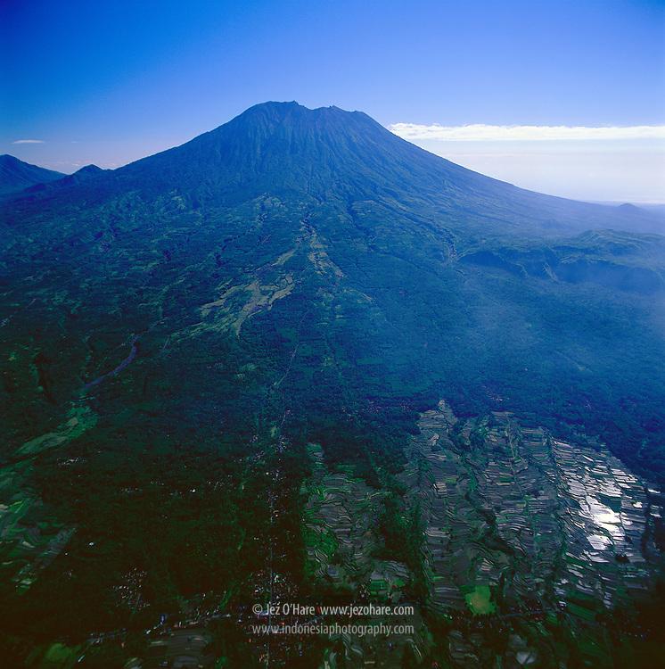 Rice Terraces, Mount Agung 3142m, Bali, Indonesia.