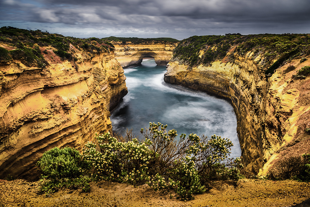 View to Muttonbird Island at Great ocean Road, Victoria