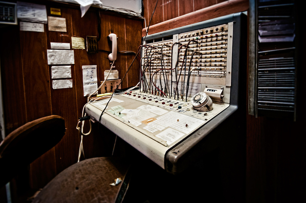 """An old phone switchboard in the Abandoned Hotel Adler in Sharon Springs NY New York. This image was the grand prize winner in Ron Howard and Canon's Project Imaginat10n and inspired the short film """"Out of the Blue"""" starring (and directed by) Eva Longoria."""