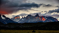 Early Morning Colors in Patagonia. Hosteria Lago Grey, Torres del Paine National Park in Chile. Image taken with a Nikon D3x camera and 70-300 mm VR lens (ISO 100, 75 mm, f/5.6, 1/10 sec).