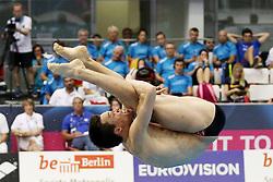 19.08.2014, Europa Sportpark, Berlin, GER, LEN, Schwimm EM 2014, Wasserspringen, 1m, Männer, Vorkampf, im Bild Patrick Hausding (DSV) (Deutschland) // during the men's 1m Diving preliminaries of the LEN 2014 European Swimming Championships at the Europa Sportpark in Berlin, Germany on 2014/08/19. EXPA Pictures © 2014, PhotoCredit: EXPA/ Eibner-Pressefoto/ Lau<br /> <br /> *****ATTENTION - OUT of GER*****