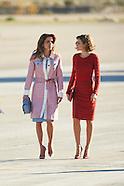 111915 Spanish Royals receive Jordan's King Abdullah II and Queen Rania