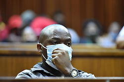 South Africa - Johannesburg - 20 October 2020 - Muzikayise Malephane made a brief appearance at the Johannesburg high court, Malephane is accused of the murder of Tshegofatso Pule who was eight months pregnant at the time.<br />