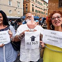 Protesta degli insegnati contro il ddl scuola al Senato
