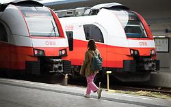 """THEMENBILD - Zuggarnituren der ÖBB """"Cityjet"""" am Westbahnhof Wien Aufgenommen am 04.04.2019 in Wien, Österreich // Weststation in Vienna, Austria on 2019/04/04. EXPA Pictures © 2019, PhotoCredit: EXPA/ Michael Gruber"""