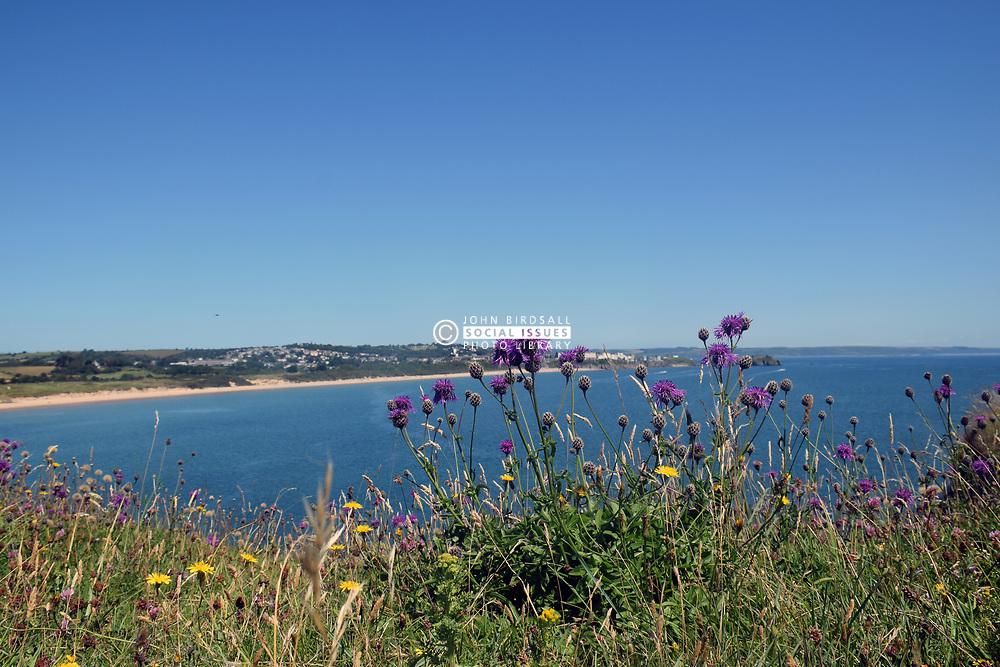 South beach, Tenby, Pembrokeshire, South Wales July 2021