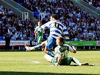 © Andrew Fosker / Richard Lane Photography 2010 -  Reading's Jobi McAnuff avoids Ryan Bennett's tackle to score their 3rd goal of a rampant 1st half - Reading v Peterborough - Coca-Cola Championship - 17/04/2010 - Madejski Stadium - Reading - UK.