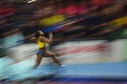 March 4, 2018 - Birmingham, England, United Kingdom - Khaddi Sagnia ofSweden at long jump at World indoor Athletics Championship 2018, Birmingham, England on March 4, 2018. (Credit Image: © Ulrik Pedersen/NurPhoto via ZUMA Press)