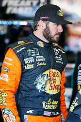 November 2, 2018 - Fort Worth, TX, U.S. - FORT WORTH, TX - NOVEMBER 02: Monster Energy NASCAR Cup Series driver Martin Truex Jr. (78) walks through the garage area during practice for the AAA Texas 500 on November 02, 2018 at the Texas Motor Speedway in Fort Worth, Texas. (Photo by Matthew Pearce/Icon Sportswire) (Credit Image: © Matthew Pearce/Icon SMI via ZUMA Press)