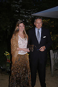 Count and Countess Edmondo di Robilat. Cartier dinner after thecharity preview of the Chelsea Flower show. Chelsea Physic Garden. 23 May 2005. ONE TIME USE ONLY - DO NOT ARCHIVE  © Copyright Photograph by Dafydd Jones 66 Stockwell Park Rd. London SW9 0DA Tel 020 7733 0108 www.dafjones.com