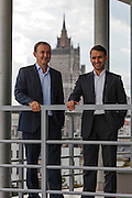 Moscow, Russia, 06/09/2012..CapMan Partner Alexander Vlasov and Investment Director Maxim Popov in the company's Moscow headquarters.