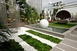 Dubai, 3rd April; The opening day of the first Dubai International Garden Competion. This the Pearl Garden.