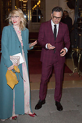Sunrise Coigney and her husband Mark Ruffalo leaving the Ritz hotel to Valentino fashion show against Paris Fashion Week Men's on January 17, 2018 in Paris, France. Photo by Nasser Berzane/ABACAPRESS.COM